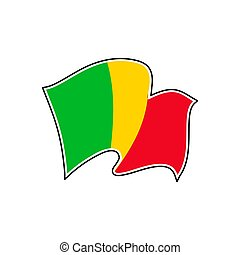 Mali national flag. Vector illustration. Bamako