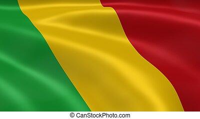 malian, bandeira, vento