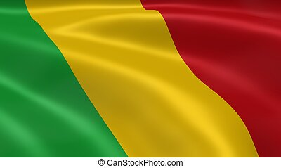 Malian flag in the wind