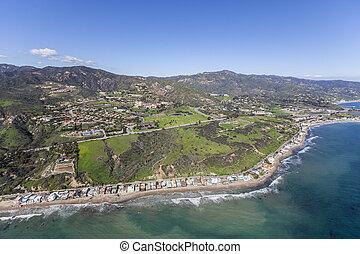 Malibu California Pacific Ocean Shoreline Aerial