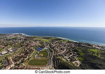 Malibu California Pacific Ocean View Aerial