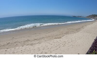 Malibu Carbon Beach - California West Coast. Malibu beach...