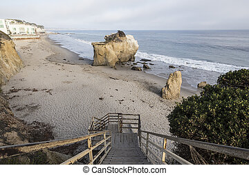 Malibu Cove - Public access stairs leading down to hidden...