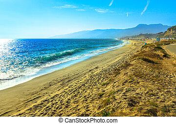 malibu, dume, praia, ponto