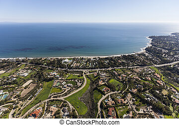Malibu Estates Aerial Southern California