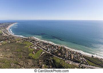 Malibu Pacific Ocean Aerial