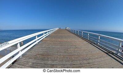 Malibu Paradise Cove Pier - Paradise Cove Pier, a wooden...