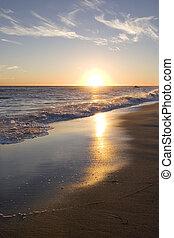 malibu, solnedgang