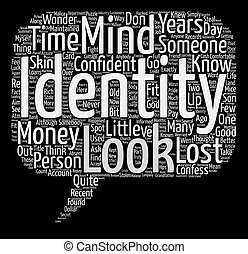 Malice In I Wonder Who I Am Land text background word cloud concept