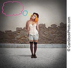 Malicious ironic expression clown - Malicious clown thinks ...
