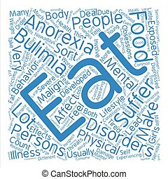 Malign Effects of Anorexia and Bulimia Word Cloud Concept...