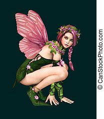 Malillia 3d CG CA - 3d computer graphics of a fairy with...