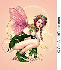 Malillia 3d CG - 3d computer graphics of a fairy with...