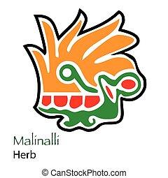 Malinalli-Herb Icon - Aztec Calendar Malinalli-Herb Icon