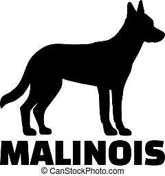 Malinois silhouette with name