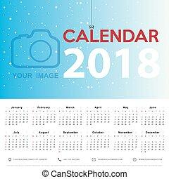 mall, 2017, kalender, startar, söndag, vecka, design.
