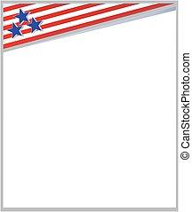 mall, amerikan, design, ram, häfte, flagga