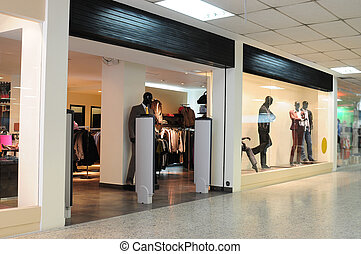Mall. - Clothing store in a shopping center.