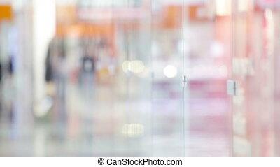 Mall fun - Ladies having fun standing by the shopping window...