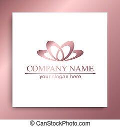 mall, logo, lotus, affär, kurort, blomma, massera, skönhet, vektor, logo., salon, abstrakt, kosmetika, kurort, ikon, icon., design, card., yoga, fashion., hotell