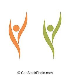 mall, mänsklig, eps, design., vektor, illustration, form, logo, 10.