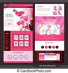 mall, mode, sida, en, websajt, design, begrepp