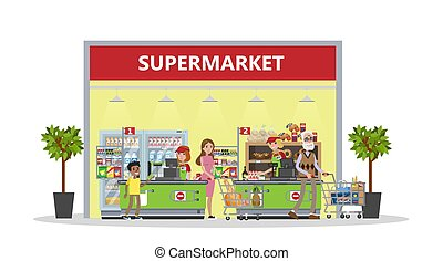 mall., supermarché