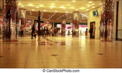Mall - time lapse people in the mall, de focus shoot