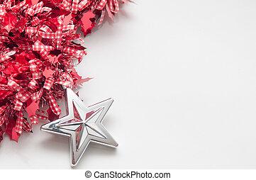Mall, Utrymme, bakgrund, vit, avskrift, jul