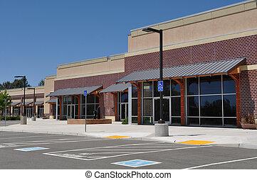 mall, winkelcentrum, strook