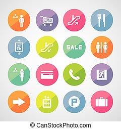 mall, zakupy, ikony