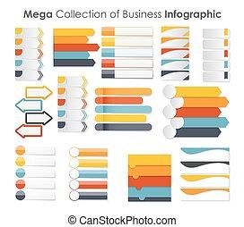 mallar, eps10, illustration., affär, infographic, vektor
