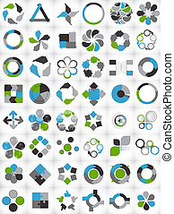 mallar, infographic, illustra, kollektion, affär