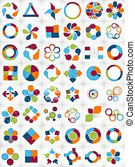 mallar, infographic, kollektion, affär
