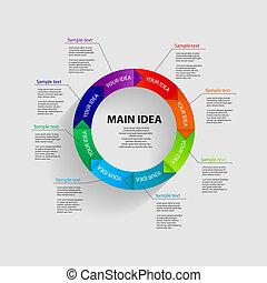 mallar, vektor, illustrationaffär, infographic