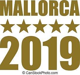 Mallorca 2019 gold german - Mallorca 2019 with golden stars