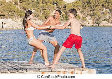 Mallorca, adolescenti, giovane, vacanza