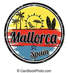 Mallorca grunge sign or stamp - Mallorca grunge stamp on...