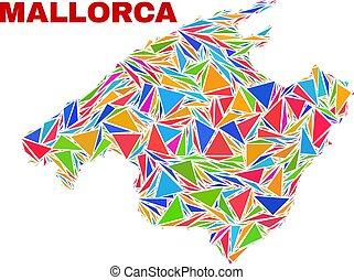 Mallorca Map - Mosaic of Color Triangles - Mosaic Mallorca...