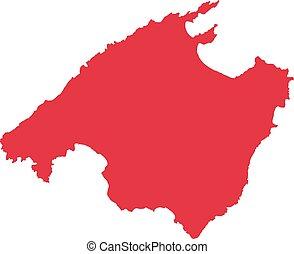 Mallorca map silhouette