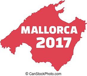 Mallorca map with mallorca 2017