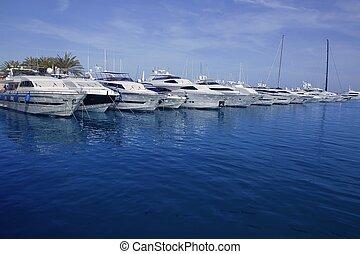 mallorca, puerto, portais, porto, marina, iates