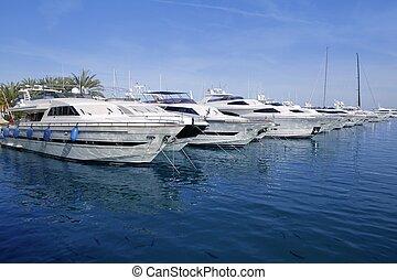 Mallorca Puerto Portals port marina yachts in Spain