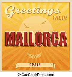 Mallorca, Spain vintage poster - Vintage Touristic Greeting...