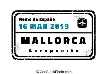 Mallorca vector stamp