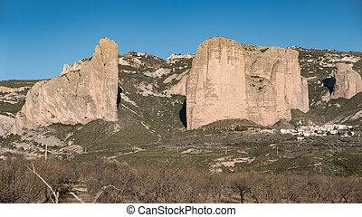 Mallos of Riglos in Huesca, Spain