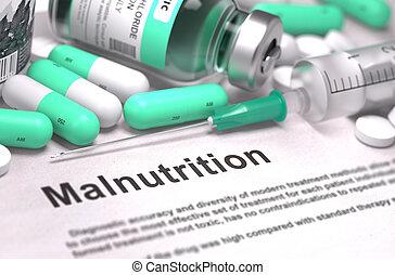 Malnutrition Diagnosis. Medical Concept.