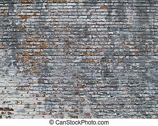 malovaný hradba, cihlový, čelil