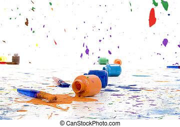 malować, spilt