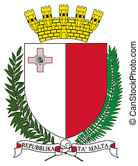 Malta Coat of Arms - Malta coat of arms, seal or national...